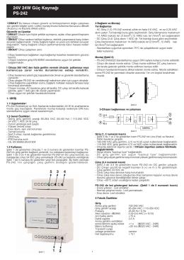 PS-242 24V 24W Güç Kaynağı.FH9