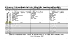 Mündliche Abschlussprüfung 2014 - Ulrich-von-Ensingen