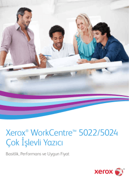 Xerox® WorkCentre™ 5022/5024 Çok İşlevli Yazıcı
