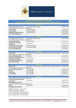 Laringoloji-Foniyatri Okulu İletişim: 0 533 823 87 34 – 0 553