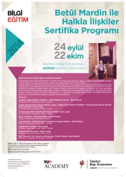 Betûl Mardin ile Halkla İlişkiler Sertifika Programı