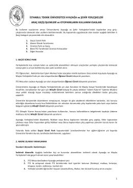 İndir - Kart işlem Merkezi - İstanbul Teknik Üniversitesi