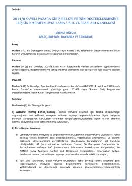 2014/8 UUE Genelgesi