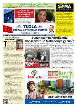 1. Sayı (Haziran 2014) - Tuzla Sosyal Dayanışma Derneği