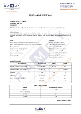 Teknik Analiz Sertifikası RMY-405