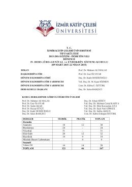 Kurul-IV - Tıp Fakültesi