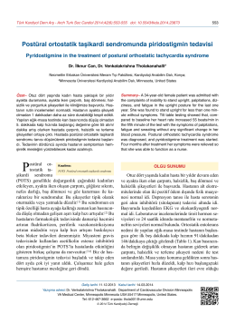Postüral ortostatik taşikardi sendromunda piridostigmin tedavisi