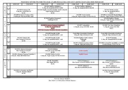 IMT 2014-15 Güz Ders Programý - Batı Dilleri ve Edebiyatları Bölümü