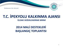 Başlangıç Toplantısı Sunumu 2014