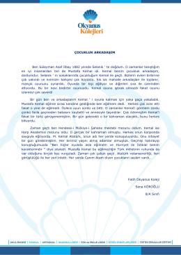 ÇOCUKLUK ARKADAŞIM Ben Süleyman Asaf