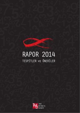 RAPOR 2014 - Türk Matematik Derneği