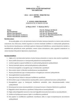 Kurul-V - Tıp Fakültesi