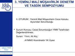 Ali ALIÇ - Ankara YMM