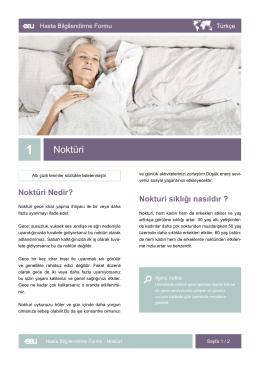 Noktüri - EAU Patient Information