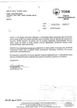 Eki: İlgi Yazı (1 Sayfa)