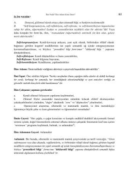 metodoloji 1. ünite kavramları - Ak