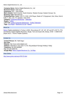 Netron Digital Electronic Co., Ltd