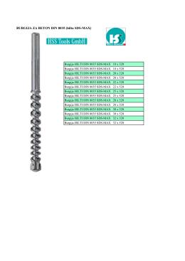 BURGIJA ZA BETON DIN 8035 (hilta SDS-MAX)