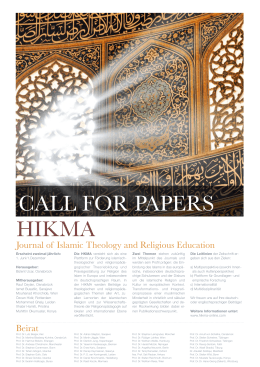 Journal of Islamic Theology and Religious Education Beirat