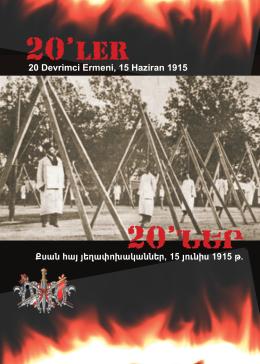20 Ermeni Devrimci