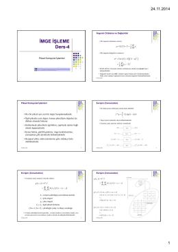 İMGE İŞLEME Ders-4