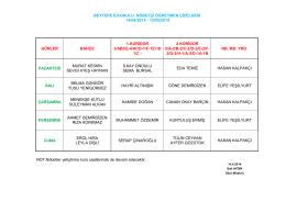 GÜNLER BAHÇE 1.KORİDOR 3/ABCE-4/ACD-1/F-1E1/D 1/C
