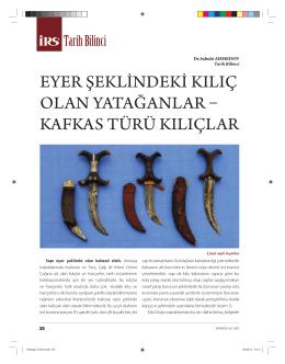 eyer şeklindeki kılıç olan yatağanlar ka fka s türü kılıçlar