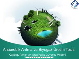 Anaerobik Arıtma ve Biyogaz Üretim Tesisi