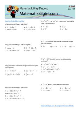 xx - MatematikBilgini.com