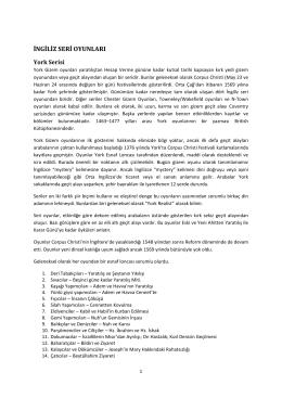 İngiliz York Seri oyunları Türkçe pdf