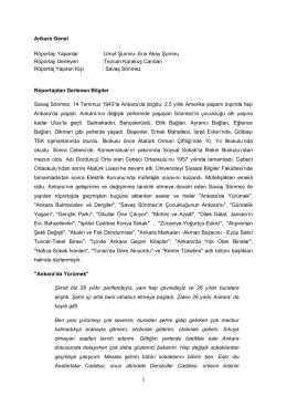 1 Ankara Genel Röportajı Yapanlar :Umut Şumnu