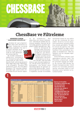 ChessBase ve Filtreleme