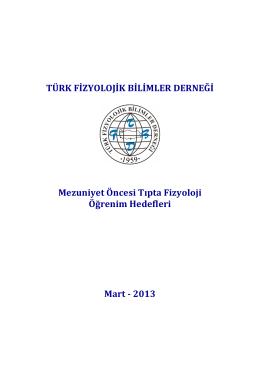 Ulaşmak için tıklayınız - Türk Fizyolojik Bilimler Derneği