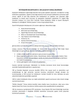 Büyükşehir Belediyeleri III. CBS Çalıştayı Sonuç Bildirgesi