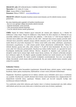 Diyafram Bazlı Verimli Enerji Üretme Modeli