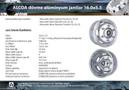 Alcoa 16.0x5.5 Jant - AK-SET