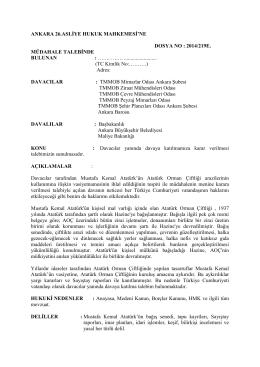 Ek: Dilekçe Örneği - Mimarlar Odası Ankara Şubesi
