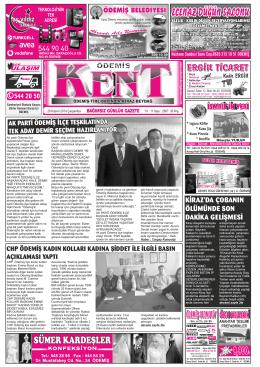 26-11-2014 Tarihli Kent Gazetesi