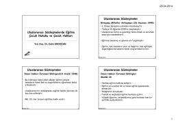 H-9-Uluslararası Sözleşmelerde Eğitim