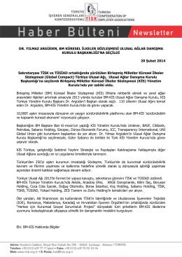 DR. YILMAZ ARGÜDEN, BM KÜRESEL İLKELER