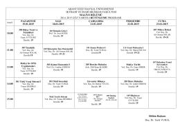 Maliye Bölümü - İktisadi ve İdari Bilimler Fakültesi