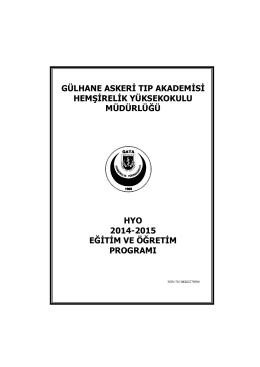 Eğitim Programı - Gülhane Askeri Tıp Akademisi