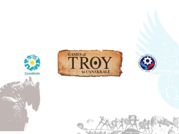 Slayt 1 - Games Of Troy
