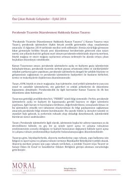 Öne Çıkan Hukuki Gelişmeler – Eylül 2014 Perakende Ticaretin