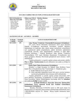kasım ayı meclis toplantısı kararı için tıklayınız