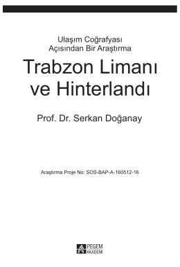 Trabzon Limanı ve Hinterlandı