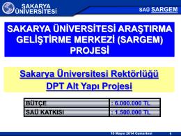 3) SARGEM - Sakarya Üniversitesi Uzaktan Eğitim Araştırma ve