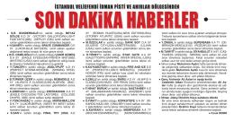 SON DAKiKA HABERLER