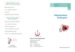 hiper tansiyon - Çayırova Toplum Sağlığı Merkezi