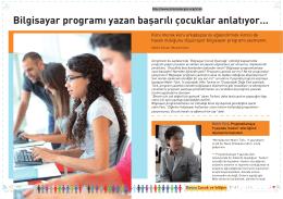 Bilgisayar programı yazan başarılı çocuklar